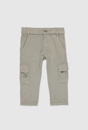 Pantalón felpa elástica de bebé niño_1