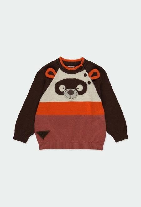 """Pullover tricot """"urso"""" para o bebé menino_1"""