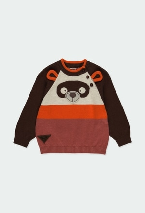 "Knitwear pullover ""bear"" for baby boy_1"