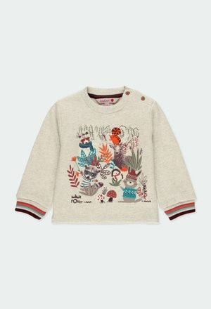 "Fleece sweatshirt ""animals"" for baby boy_1"