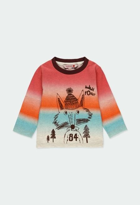 T-Shirt gestrickt mit streifen für baby junge_1
