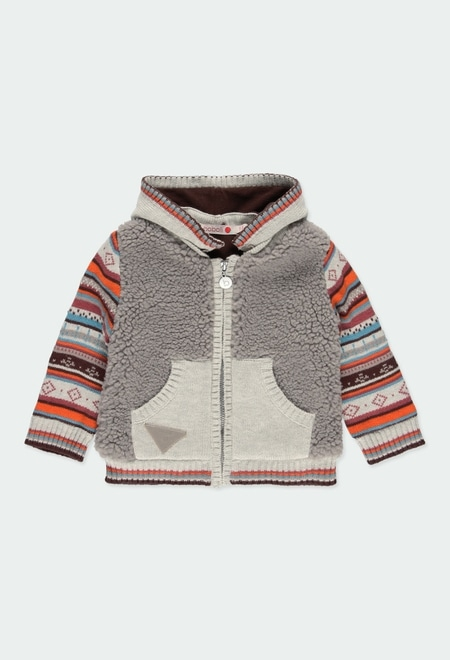 Knitwear combined jacket for baby_1