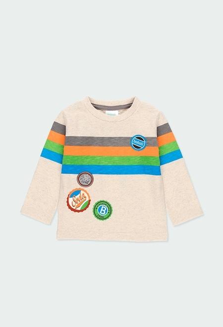 """Camiseta punto """"escudos"""" de bebé niño_1"""