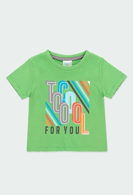 """Camiseta punto """"letras"""" de bebé niño_1"""