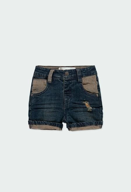 Bermuda en jean stretch pour bébé garçon_1