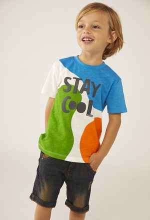 Camiseta punto manga corta de bebé_1