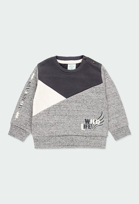 Fleece sweatshirt for baby boy_1