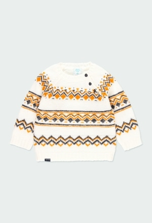 """Knitwear pullover """"friezes"""" for baby boy_1"""