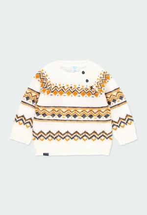 """Pullover tricot """"ornamentos"""" para o bebé menino_1"""