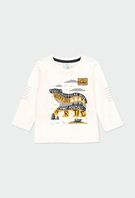 "Knit t-Shirt ""bear"" for baby boy_1"