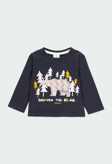 """T-Shirt gestrickt """"bär"""" für baby junge_1"""