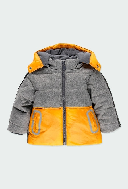Technical fabric parka bicolour for baby_1