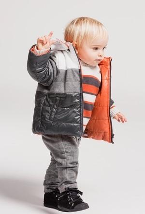 Parka reversível tecido técnico para o bebé menino_1