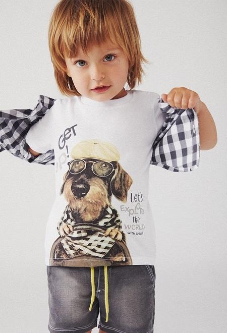 Camiseta punto liso de bebé niño_1