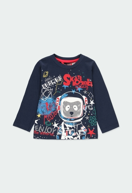 "Camiseta punto ""astronauta"" de bebé niño_1"