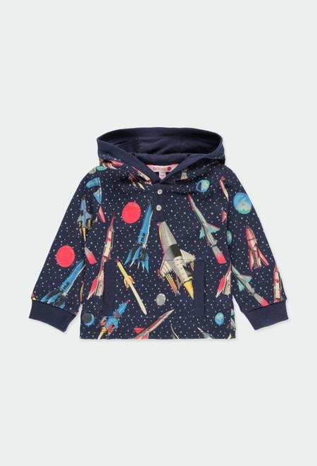 Fleece sweatshirt rockets for baby boy_1
