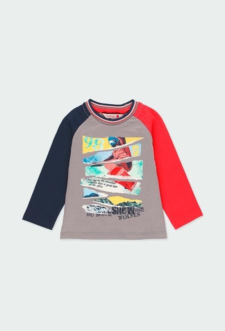 "Camiseta punto ""snow"" de bebé niño_1"