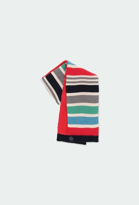 Écharpe en tricot pour bébé garçon_1