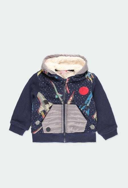 Fleece jacket rockets for baby boy_1
