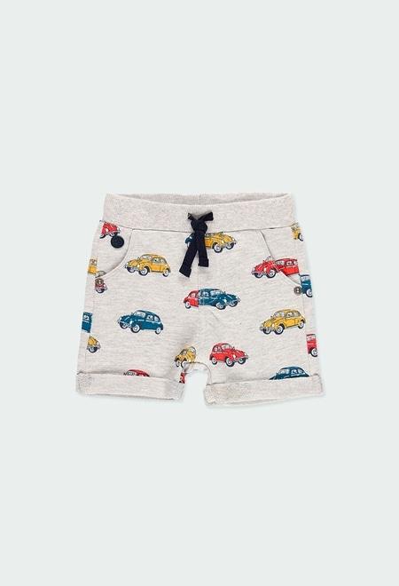 Fleece bermuda shorts cars for baby boy_1