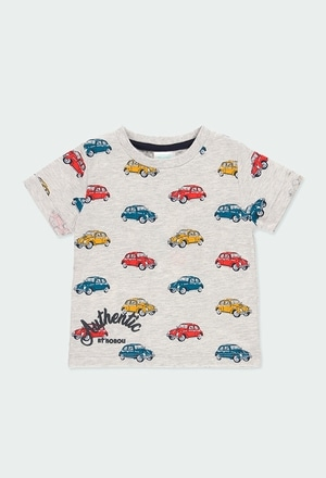 Camiseta malha carro para o bebé menino_1
