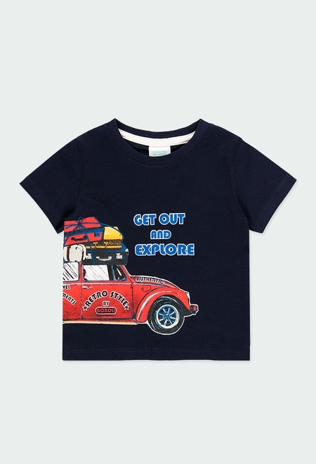 """Knit t-Shirt """"summer"""" for baby boy_1"""
