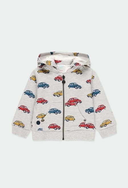 Veste en molleton voitures pour bébé garçon_1