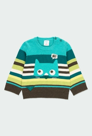 Jersey tricotosa listada de bebé niño_1