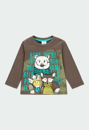 """Knit t-Shirt """"animals"""" for baby boy_1"""