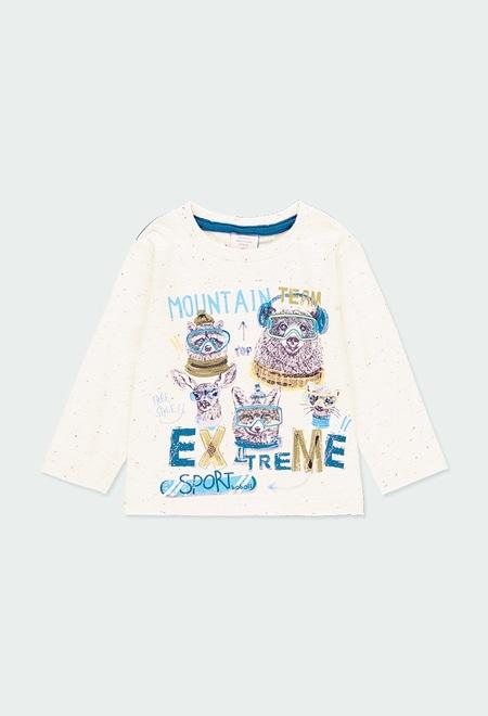 Camiseta punto motas de bebé niño_1