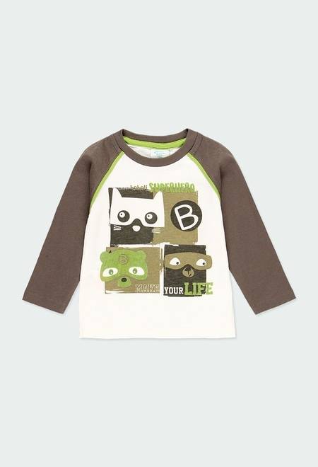 Knit t-Shirt bicolour for baby boy_1