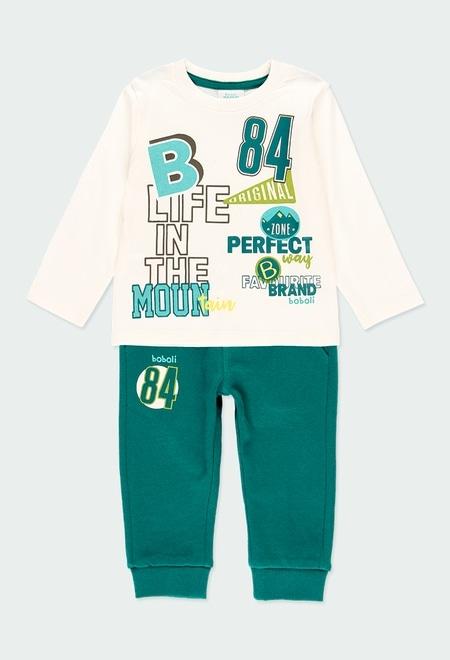"""Pack en tricot """"b84"""" pour bébé garçon_1"""
