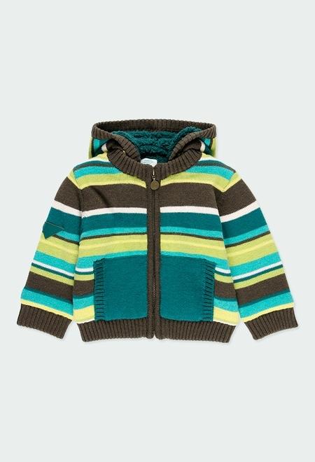 Chaqueta tricotosa listada de bebé niño_1