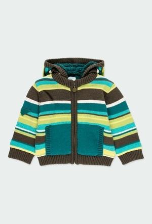 Giacchetta tricot a righe per bimbo_1