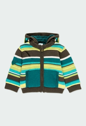 Knitwear jacket striped for baby boy_1
