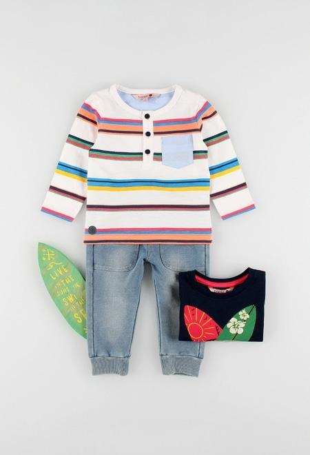 Camiseta punto flamé de bebé niño_1