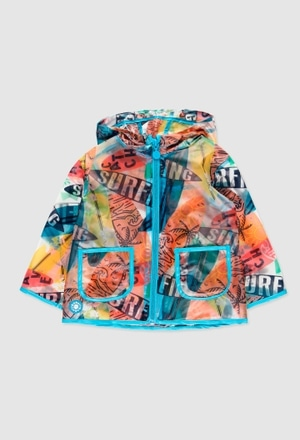 Hooded raincoat for baby boy_1
