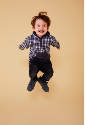 Sweat maille a carreaux pour bébé garçon_1
