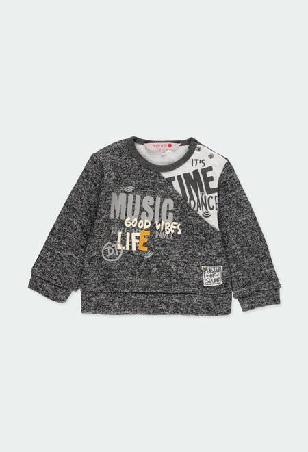Camiseta malha fantasia para o bebé menino_1