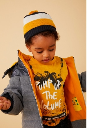 Technical fabric parka for baby boy_1