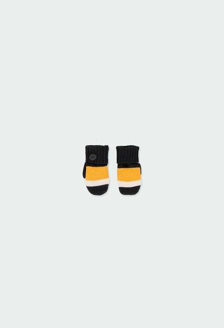 Luva tricot para o bebé menino_1