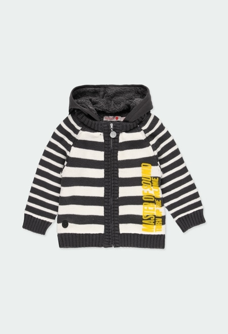 "Knitwear jacket ""bbl music"" for baby boy_1"