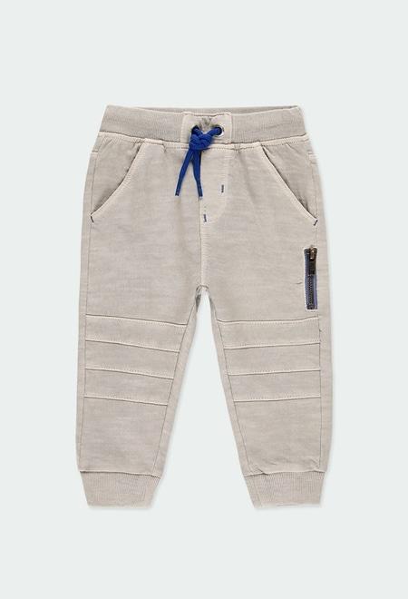 Pantalon en molleton flame pour bébé garçon_1