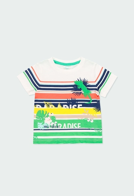 Knit t-Shirt flame for baby boy_1