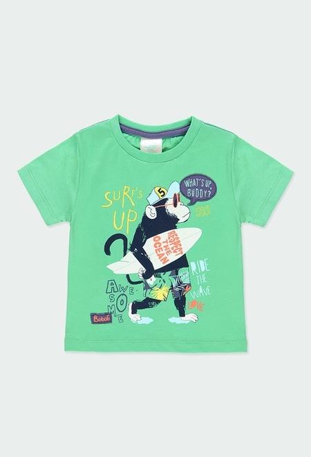 """T-Shirt gestrickt """"surfing"""" für baby junge_1"""
