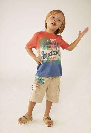 Camiseta punto tricolor de bebé niño_1