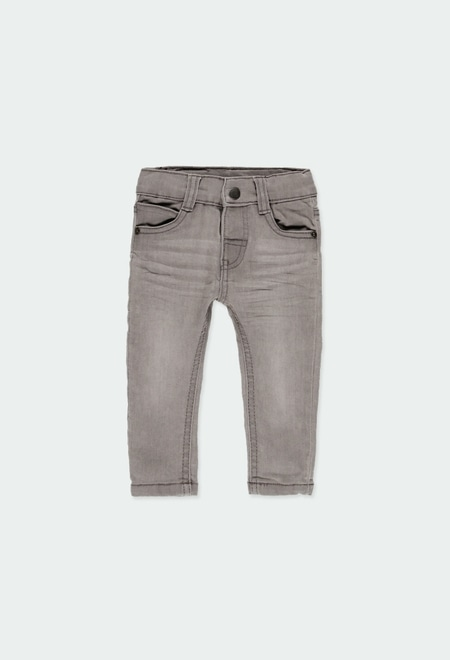 Denim stretch trousers for baby boy_1