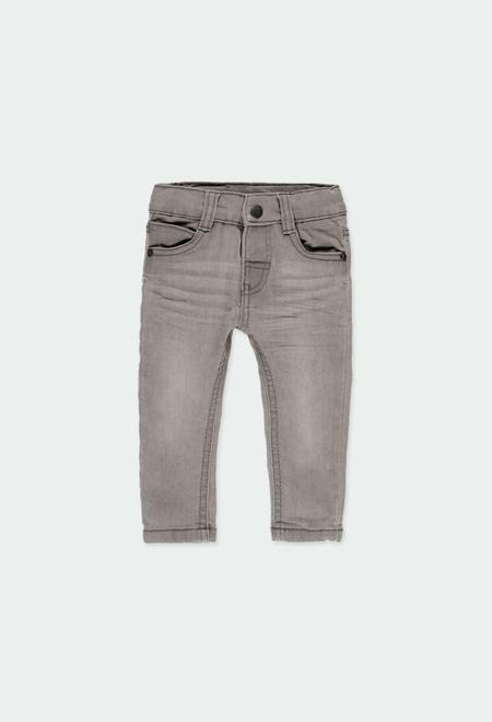 Denim stretch trousers for baby boy_1