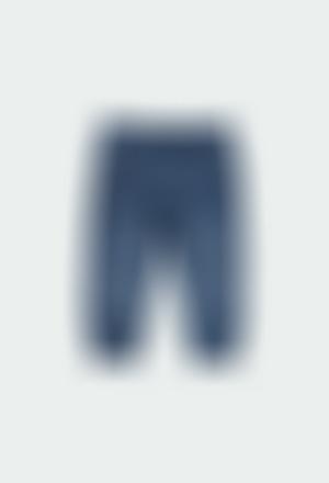 Pantalón felpa denim de bebé niño