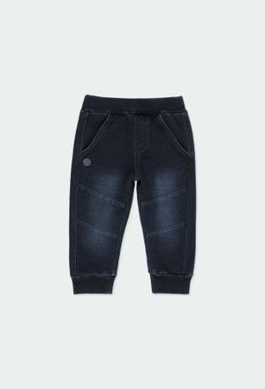Pantaloni felpati denim per bimbo_1